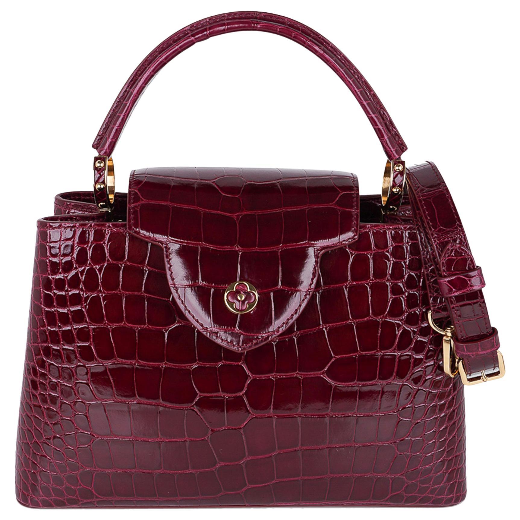 Louis Vuitton Capucines PM Bag Wildcat Crocodile Limited Edition