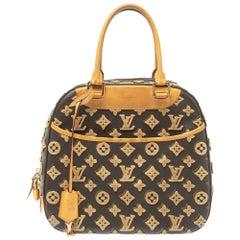 Louis Vuitton Caramel Monogram Coated Canvas Tuffetage Deauville Cube Bag