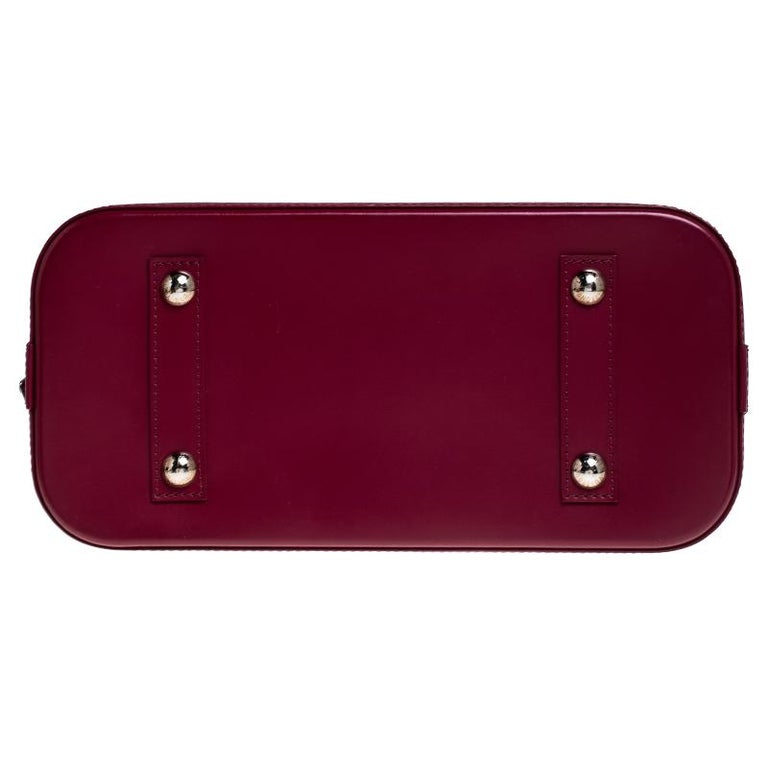 Louis Vuitton Carmine Epi Leather Alma PM Bag For Sale 6