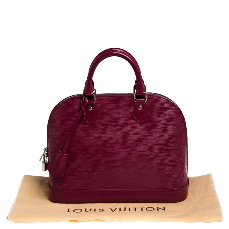 Louis Vuitton Carmine Epi Leather Alma PM Bag For Sale 7