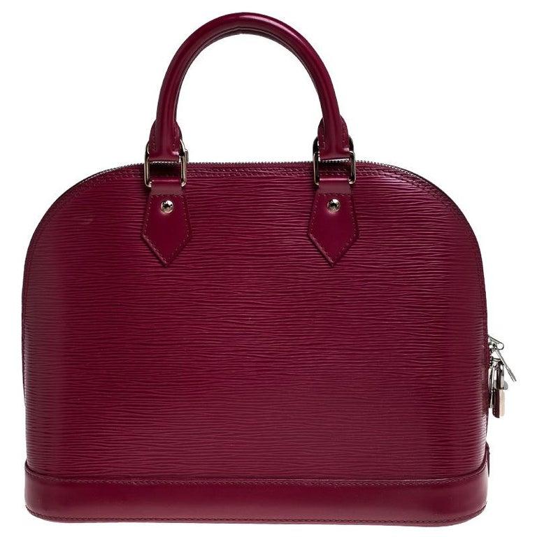 Women's Louis Vuitton Carmine Epi Leather Alma PM Bag For Sale