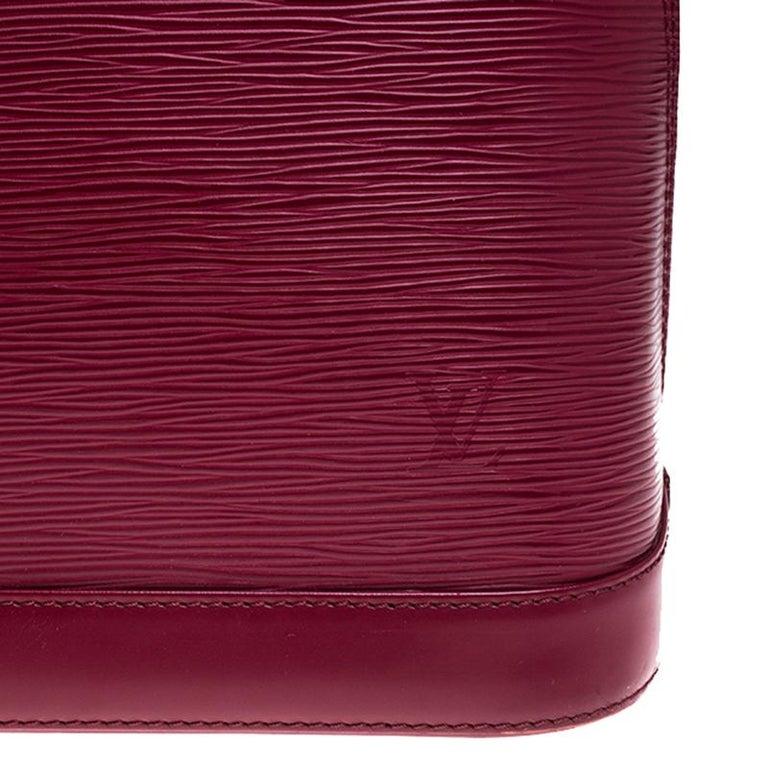 Louis Vuitton Carmine Epi Leather Alma PM Bag For Sale 1