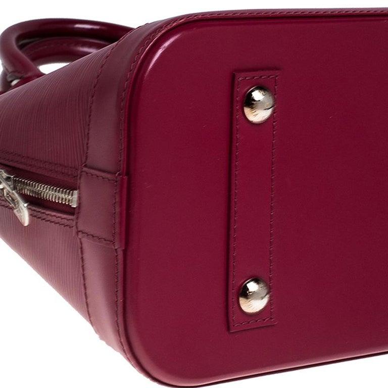 Louis Vuitton Carmine Epi Leather Alma PM Bag For Sale 2
