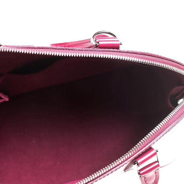 Louis Vuitton Carmine Epi Leather Alma PM Bag For Sale 4