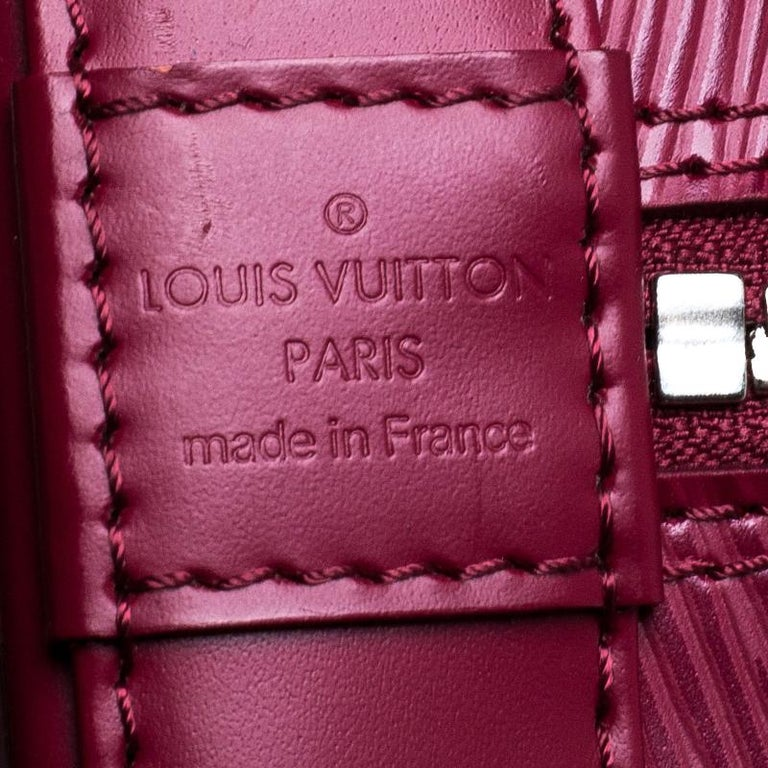 Louis Vuitton Carmine Epi Leather Alma PM Bag For Sale 5
