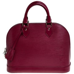 Louis Vuitton Carmine Epi Leather Alma PM Bag