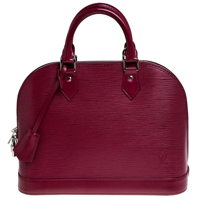 Louis Vuitton Carmine Epi Leather Alma PM Bag For Sale