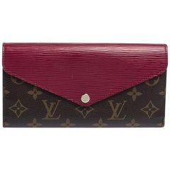 Louis Vuitton Carmine Monogram Canvas and Epi Leather Marie-Lou Wallet