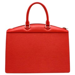 Louis Vuitton Carmine Red Riviera Epi Leather Handbag