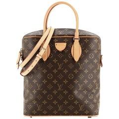 Louis Vuitton Carry All Handbag Monogram Canvas MM