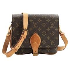 Louis Vuitton Cartouchiere Handbag Monogram Canvas MM
