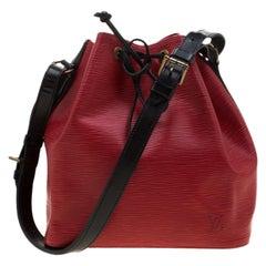 Louis Vuitton Castilian Red Epi Leather Neonoe Bag