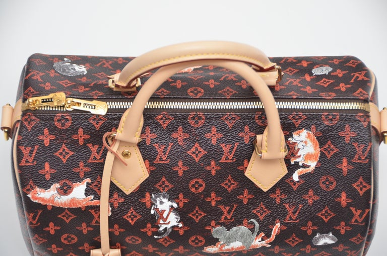 LOUIS VUITTON Catogram Bag Speedy 30  Grace Coddington Auth New Unused  100% Guaranteed Authentic and NEW NEW  with  dust-bag ,little booklet and tags. strap, dust bag, key. Size: W30 x H21 x D17 cm Original receipt available to a purchaser upon