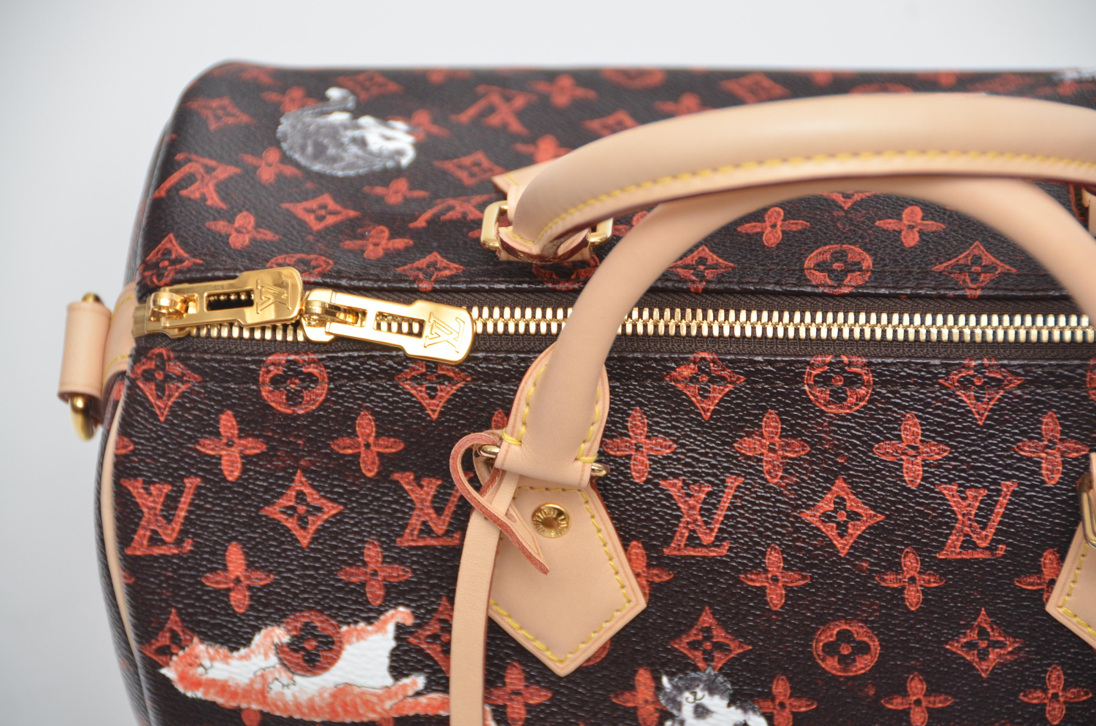 ce944f318201 LOUIS VUITTON Catogram Bag Speedy 30 Grace Coddington New For Sale at  1stdibs