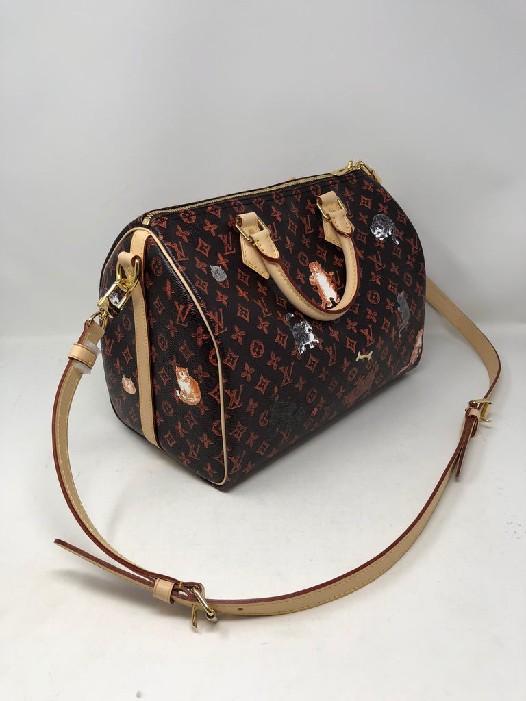 1a3fe5d7b08f Louis Vuitton Catogram Speedy 30 Bandouliere. Designed by famous fashion  editor Grace Coddington with her