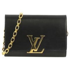 Louis Vuitton Chain Louise Clutch Leather GM