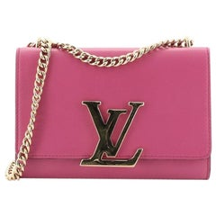 Louis Vuitton Chain Louise Clutch Leather MM
