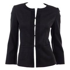 Louis Vuitton Charcoal Grey Cotton Jacket w/ Grosgrain Ribbon Trim