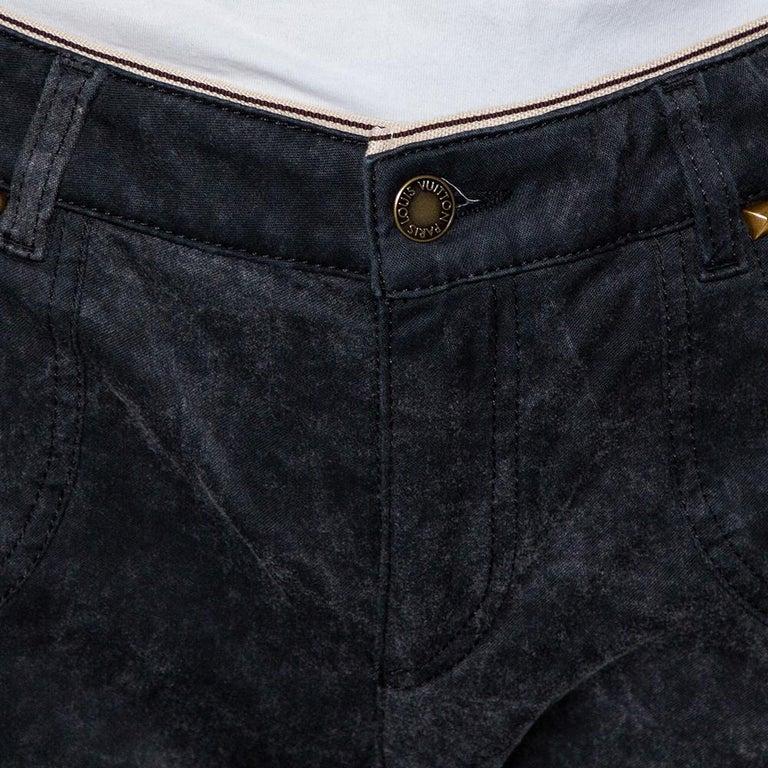 Black Louis Vuitton Charcoal Grey Denim Tapered Leg Jeans M For Sale