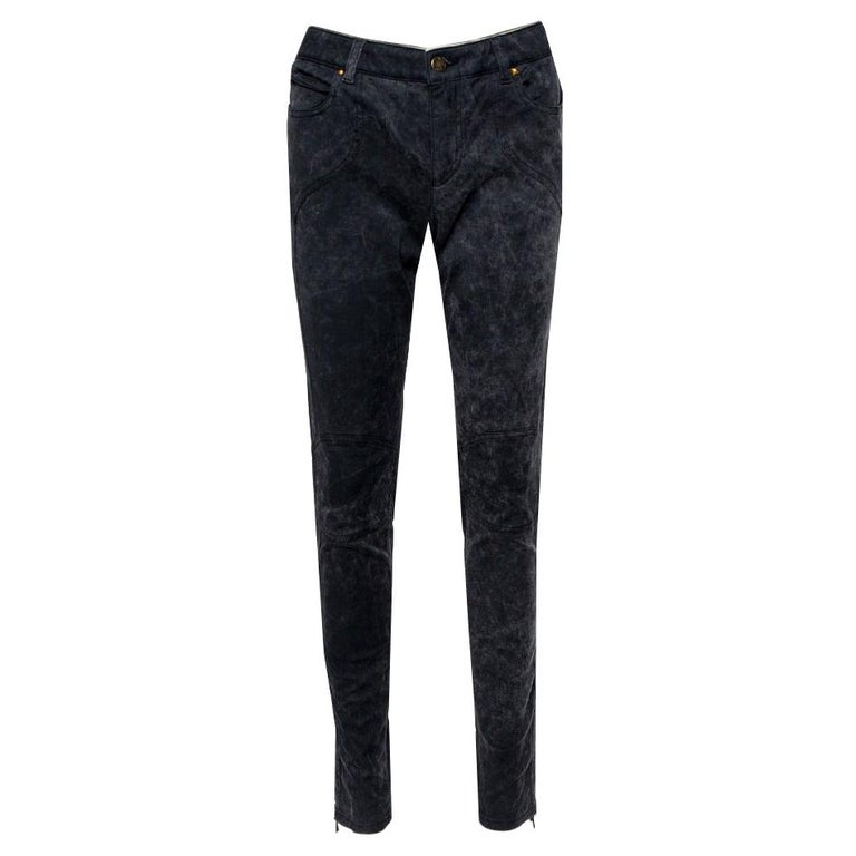 Louis Vuitton Charcoal Grey Denim Tapered Leg Jeans M For Sale
