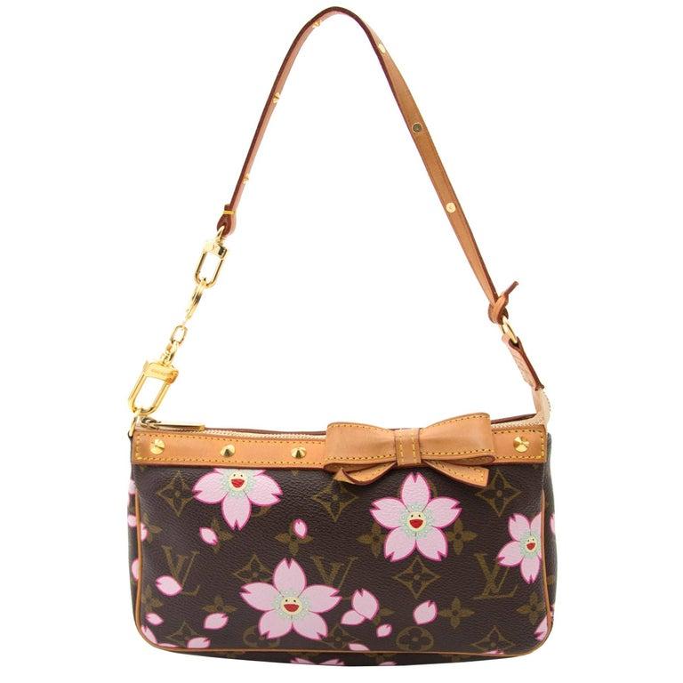 Louis Vuitton Limited Edition Cherry Blossom Monogram Mini Pochette at  1stdibs cbf7cdc62e087