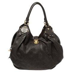 Louis Vuitton Chocolate Monogram Mahina Leather Surya L Bag