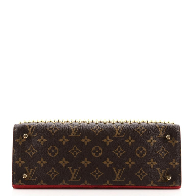 Louis Vuitton Christian Louboutin Shopping Bag Calf Hair and Monogram Canvas In Good Condition For Sale In New York, NY