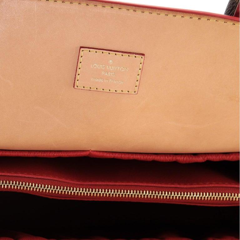 Louis Vuitton Christian Louboutin Shopping Bag Calf Hair and Monogram Canvas For Sale 2