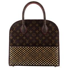 Louis Vuitton Christian Louboutin Shopping Bag Calf Hair and Monogram Canvas