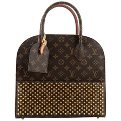 Louis Vuitton Christian Louboutin Shopping Bag Calf Hair and Monogram Canvas