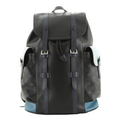 Louis Vuitton Christopher Backpack Epi Leather with Monogram Eclipse Canv