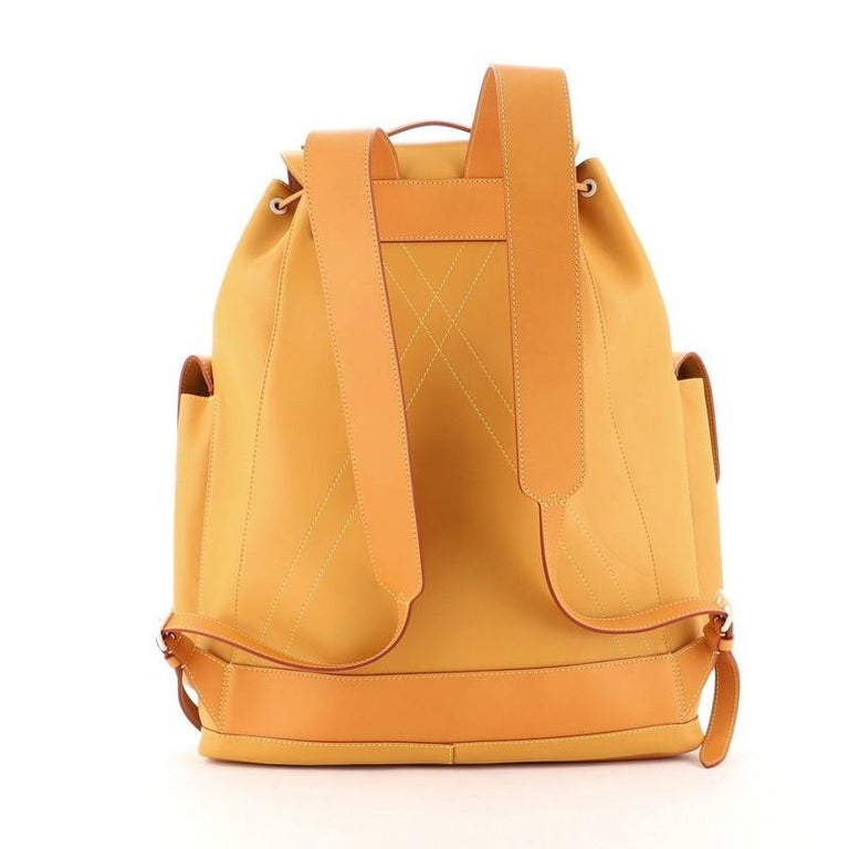 Louis Vuitton Christopher Backpack Vachetta Leather GM In Good Condition For Sale In New York, NY
