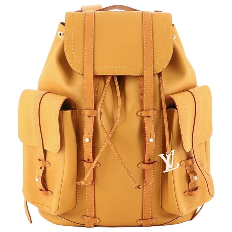 Louis Vuitton Christopher Backpack Vachetta Leather GM For Sale