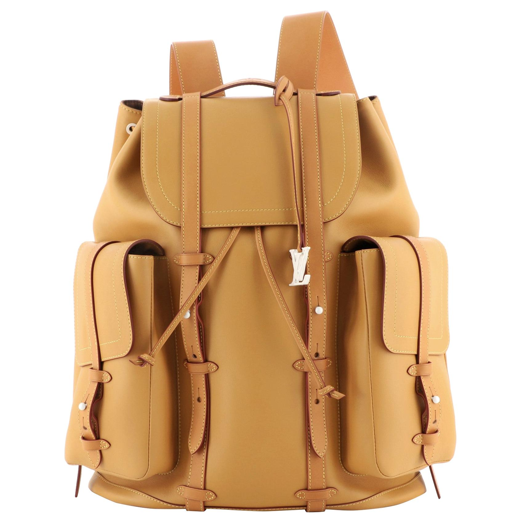 Louis Vuitton Christopher Backpack Vachetta Leather GM