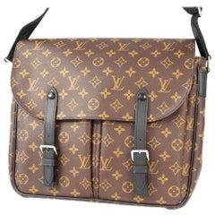LOUIS VUITTON Christopher messenger Mens shoulder bag M41643 brown