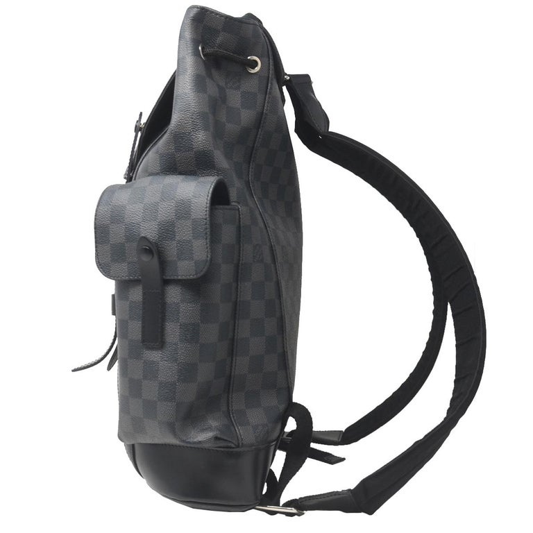 f1888ece2a8 Louis Vuitton Christopher PM Damier Graphite Canvas Backpack