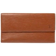 Louis Vuitton Cipango Gold Epi Leather Flap Continental Wallet