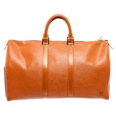 Louis Vuitton Cipango Gold Epi Leather Keepall 45cm Weekend/Travel Bag