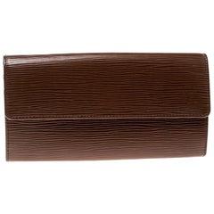 Louis Vuitton Cipango Gold Epi Leather Sarah Wallet