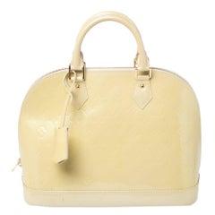 Louis Vuitton Citrine Monogram Vernis Alma PM Bag
