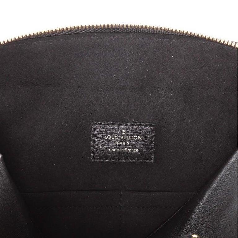 Louis Vuitton City Malle Handbag Reverse Monogram Canvas and Leather MM For Sale 1