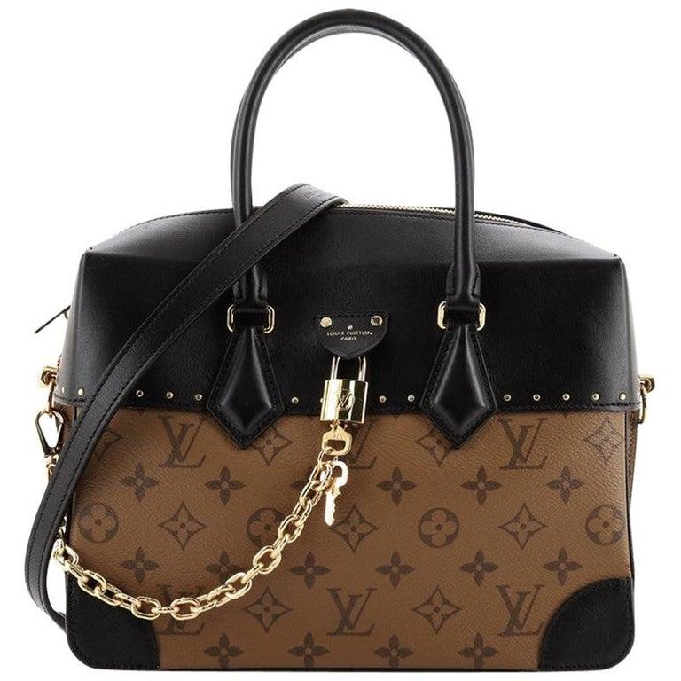 Louis Vuitton City Malle Handbag Reverse Monogram Canvas and Leather MM For Sale