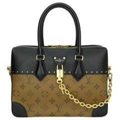 Louis Vuitton City Malle MM Bag Reverse Monogram with Gold Hardware 2018