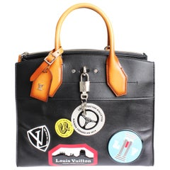 Louis Vuitton City Steamer Bag MM World Tour Stickers Tote F/W 2016 Prototype