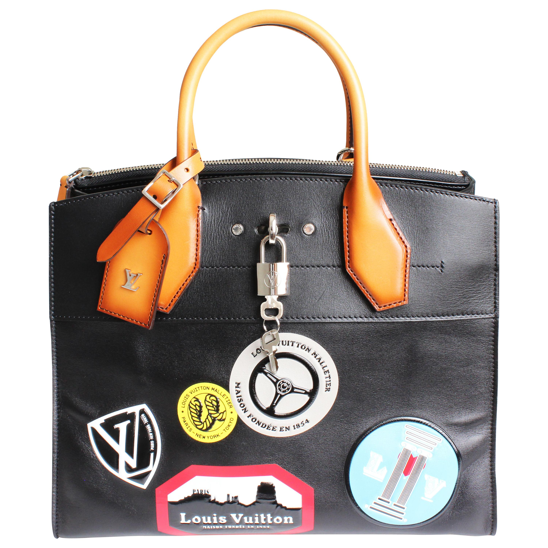 Louis Vuitton City Steamer Bag MM World Tour Stickers Tote F/W 2016 Prototype