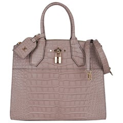 Louis Vuitton City Steamer Bag Taupe Matte Crocodile Limited Edition New w/Box