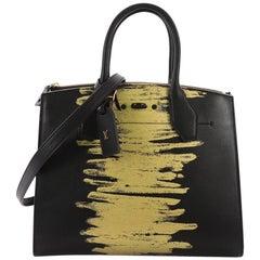 Louis Vuitton City Steamer Handbag Golden Light Print Leather MM