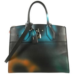 Louis Vuitton City Steamer Handbag Hologram Print Leather MM