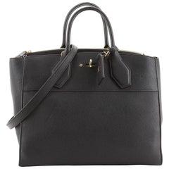 Louis Vuitton City Steamer Handbag Leather GM