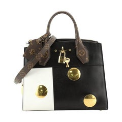 Louis Vuitton City Steamer Handbag Limited Edition Embellished Leather with Mono